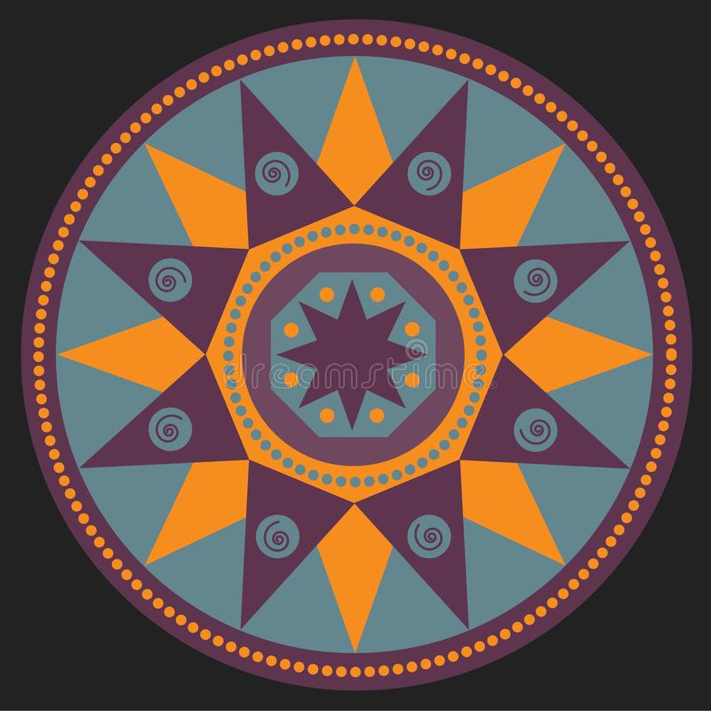 Mandala, simbol etnico immagine stock