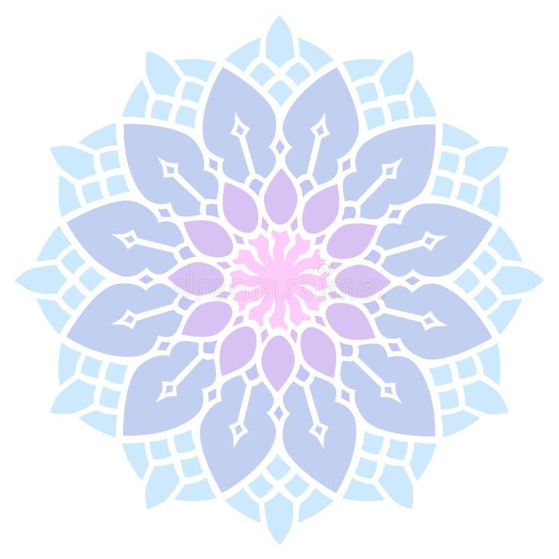 Mandala simple de vecteur de dentelle de couleur en pastel illustration libre de droits