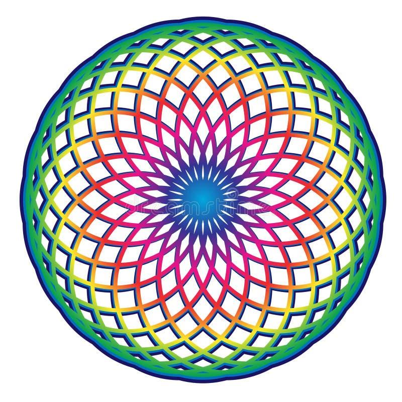 Mandala simple del círculo del arco iris libre illustration