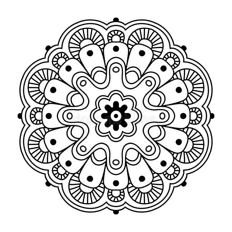 Mandala simples floral imagens de stock royalty free
