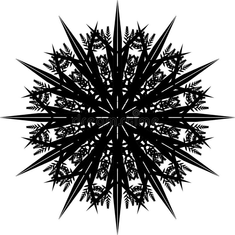 Mandala, Snowflake ΙΙ διανυσματική απεικόνιση
