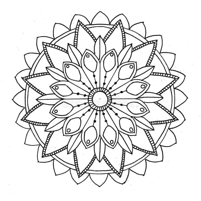Mandala som färgar royaltyfria bilder
