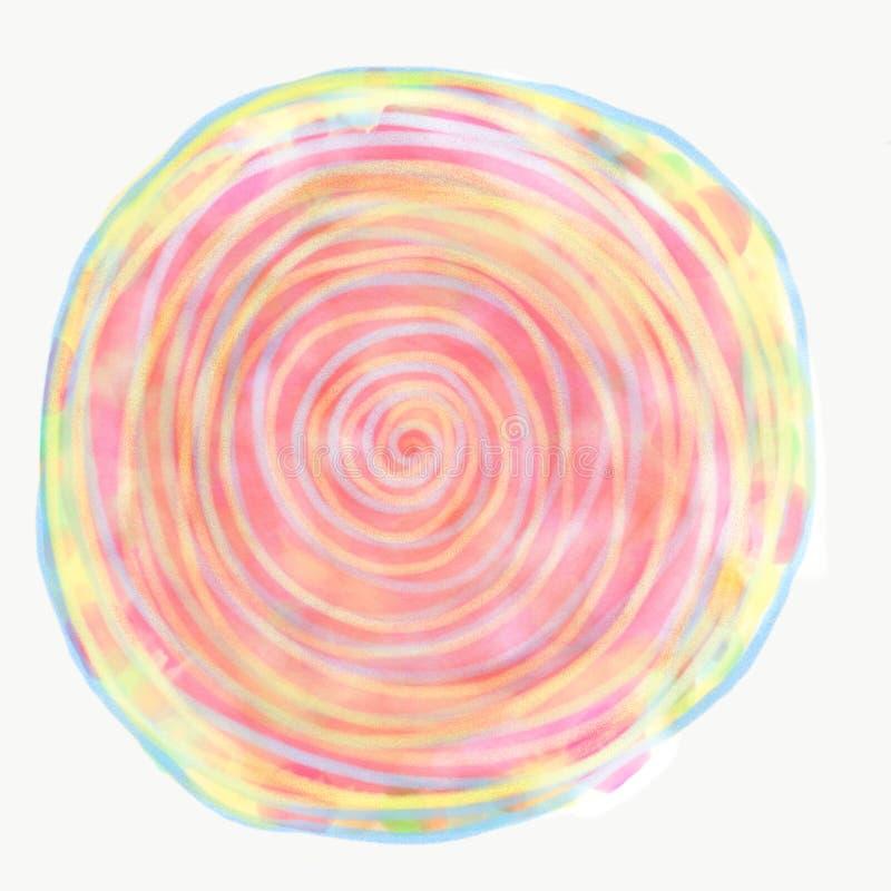Mandala som målas med vattenfärgen royaltyfri illustrationer