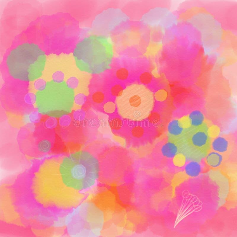 Mandala som målas med vattenfärgen vektor illustrationer