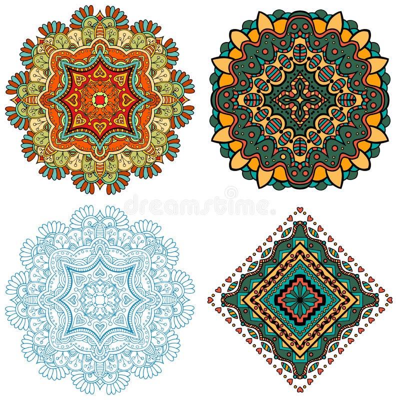 Mandala Square-ornament stock illustratie