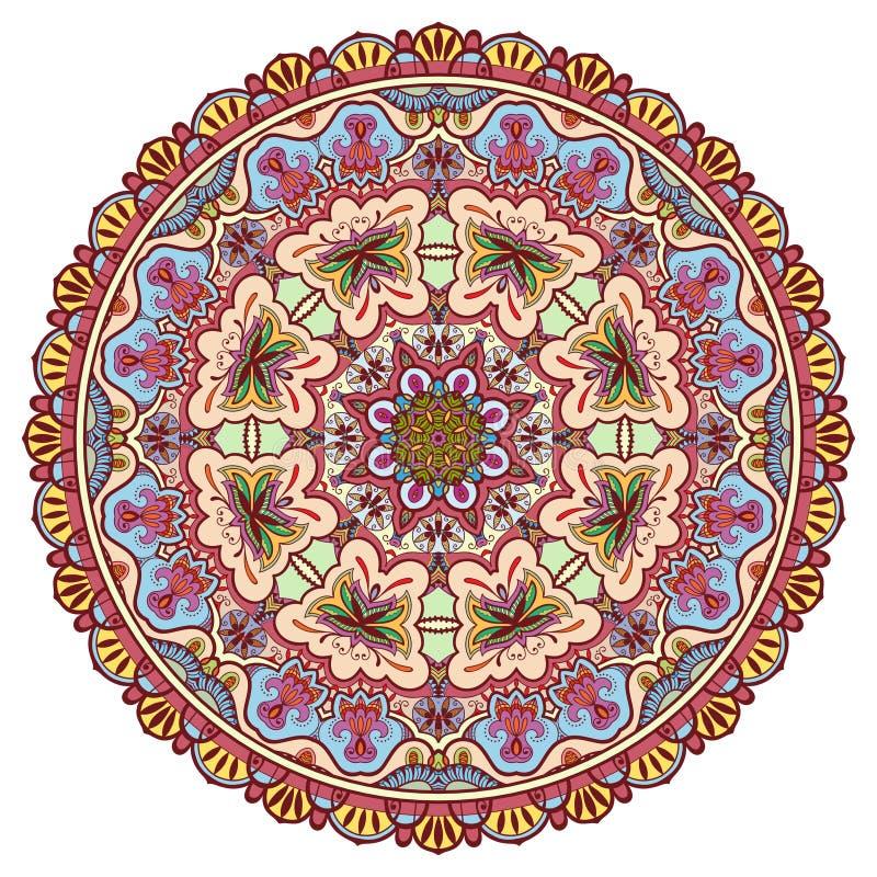 Mandala stam- etnisk prydnad, islamisk vektor vektor illustrationer