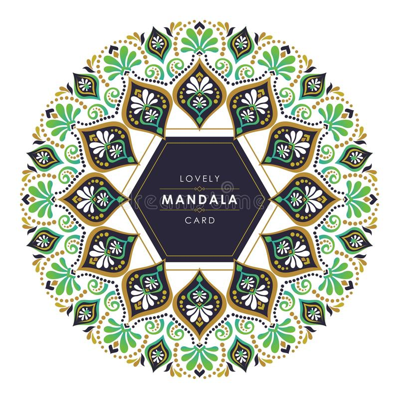 Mandala with stylish and lovely decorative design. Simple and trendy design. suitable for banner, flyer, brochure, web background, poster, and other stock illustration