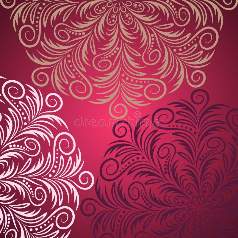 Mandala tła rocznik ilustracji