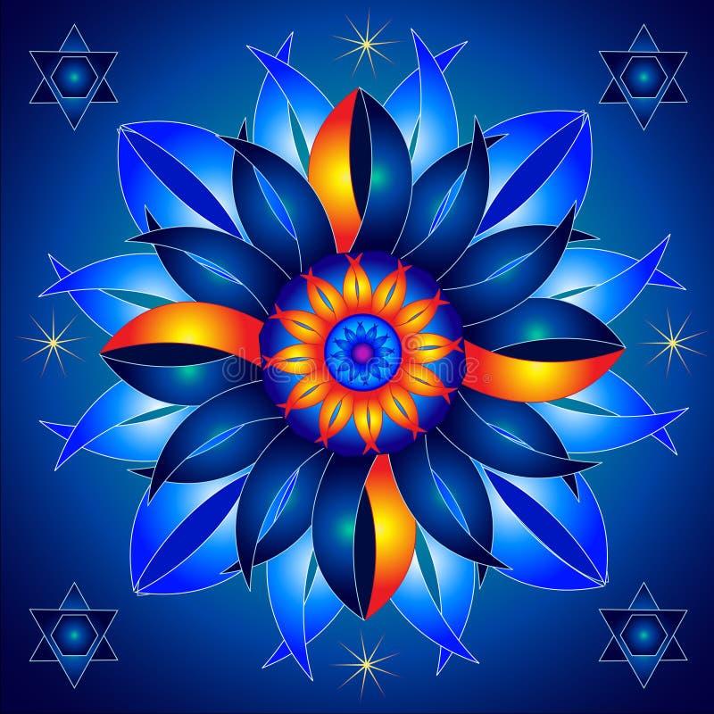 Mandala Talisman der kosmischen Energie heilend stock abbildung