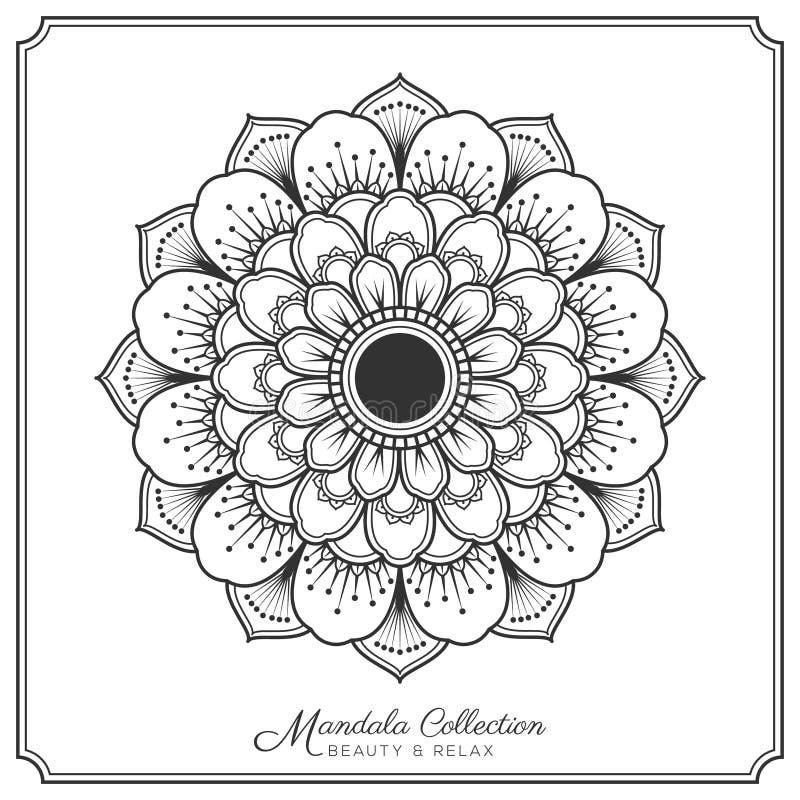 Mandala tattoo design stock vector. Illustration of zentangle - 80062010