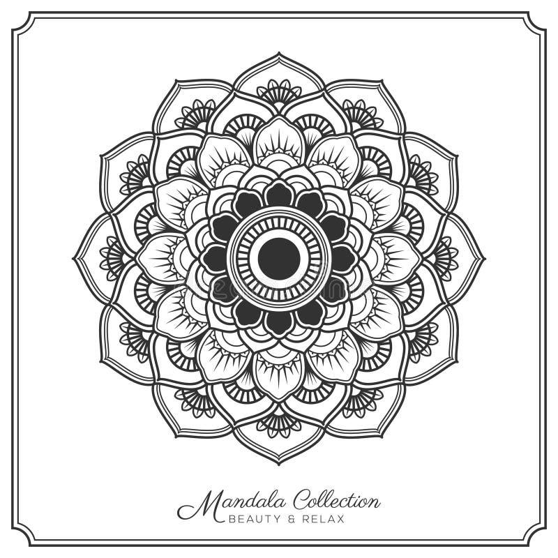 Mandala Tattoo Design Template vector illustratie