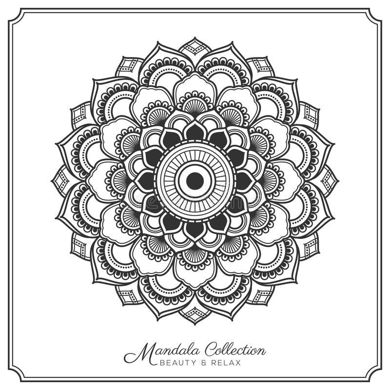 Mandala Tattoo Design Template stock illustratie