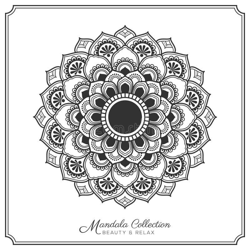 Mandala Tattoo Design Template royalty-vrije illustratie