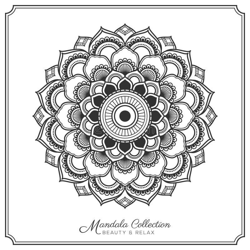 Mandala Tattoo Design Template Stock Vector - Illustration of floral ...