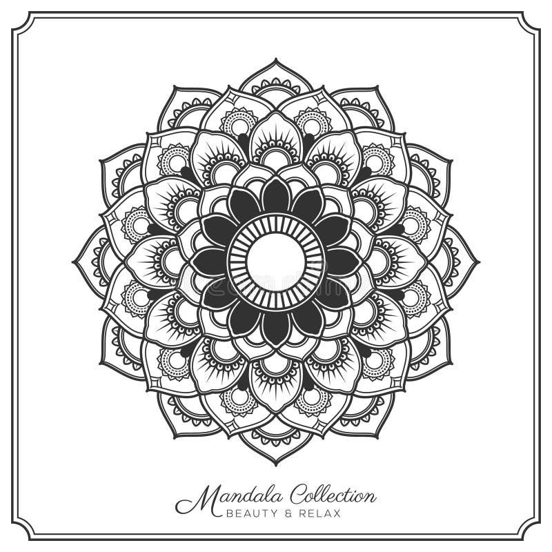 Mandala Tattoo Design Template Stock Vector - Illustration of round ...