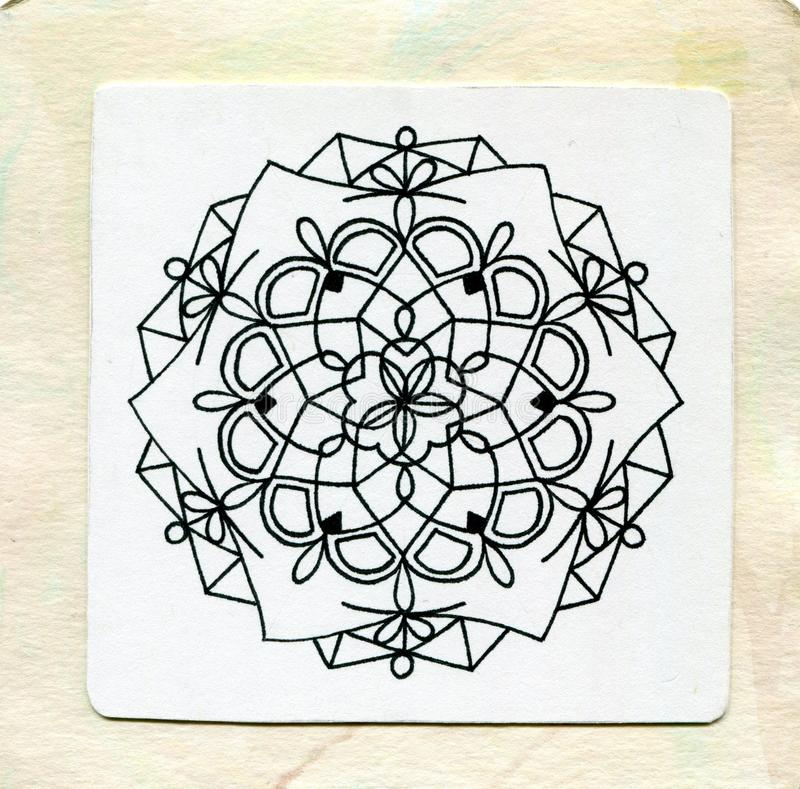 Mandala tattoo doodle zen royalty free stock images