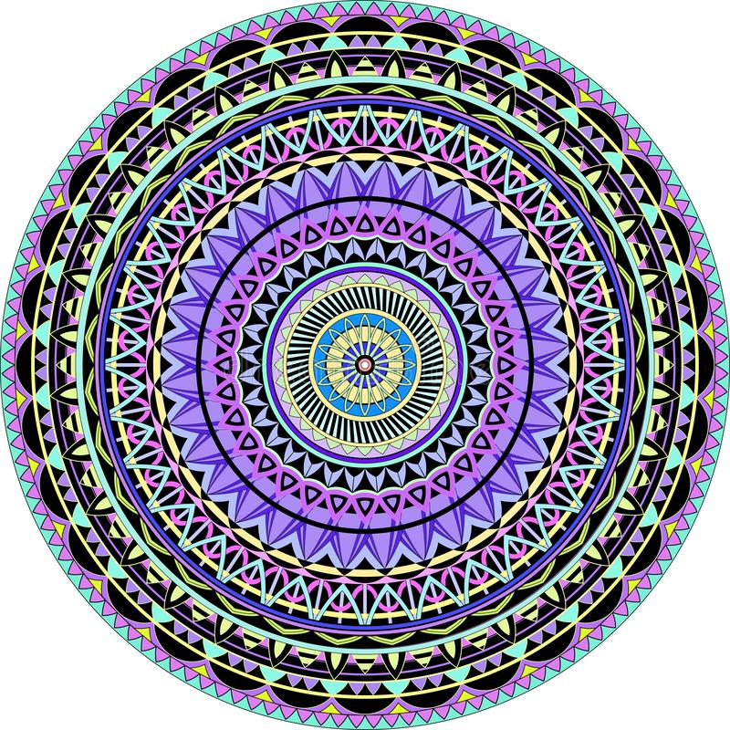 Mandala Techno royaltyfri illustrationer
