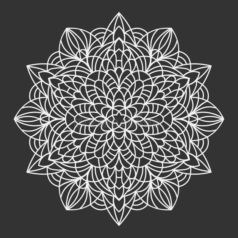 mandala Teste padrão decorativo do elemento do ornamento Molde tribal étnico tirado mão do fundo ilustração do vetor
