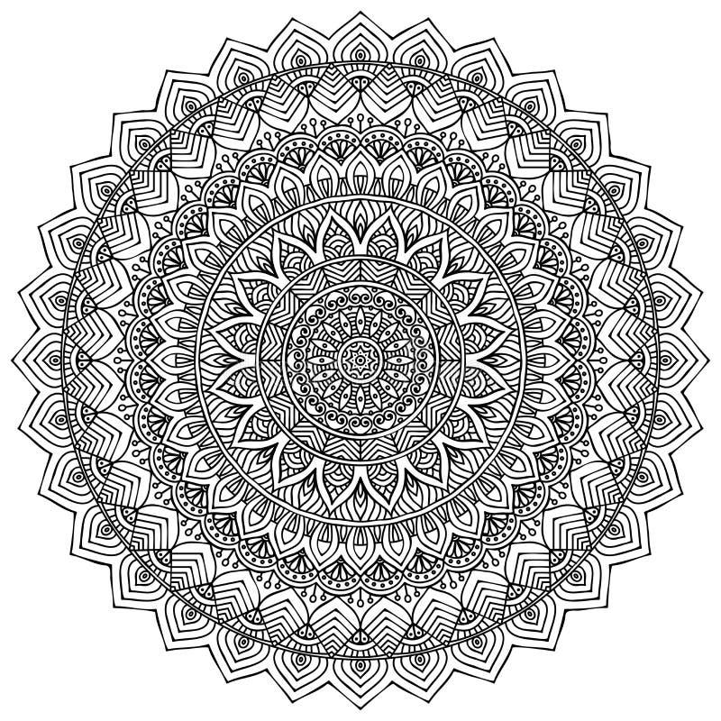 mandala Teste padrão redondo do ornamento ilustração do vetor