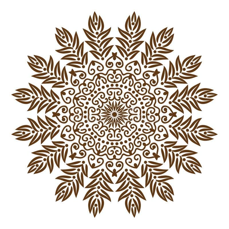 Mandala tibetan. Background mandala , chakra tibetan mandala kaleidoscope medallion yoga india henna hands henna pattern henna design mehndi arabic henna flower royalty free illustration