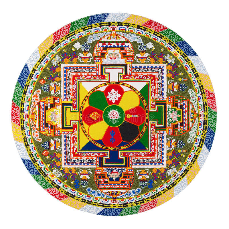 Mandala tibetana foto de archivo libre de regalías