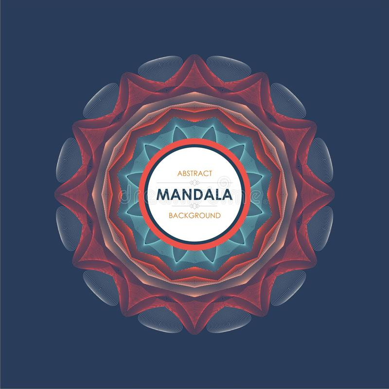 Mandala with Trendy and Stylish design royalty free stock images