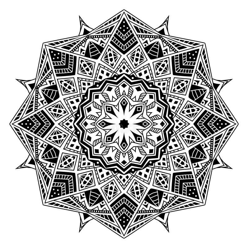 Mandala tribal africana, ilustração do vetor foto de stock