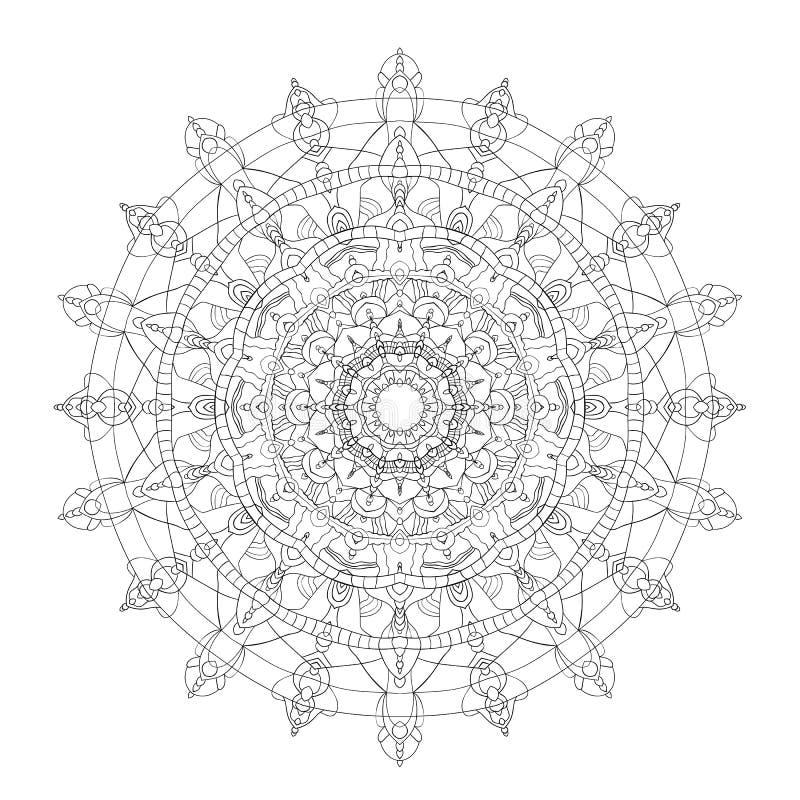 mandala Uitstekende decoratieve elementen Vector illustratie royalty-vrije illustratie