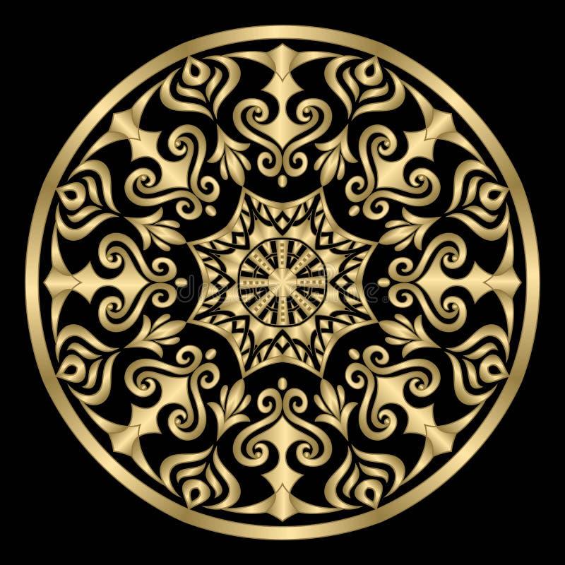 mandala Uitstekende decoratieve elementen Vector illustratie stock illustratie