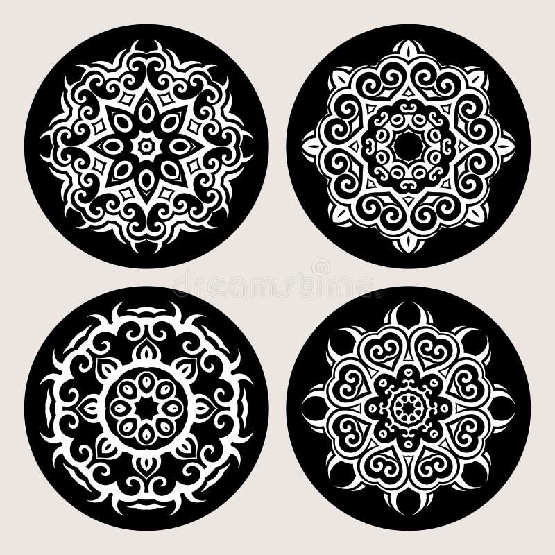 mandala Uitstekende patroonreeks royalty-vrije illustratie