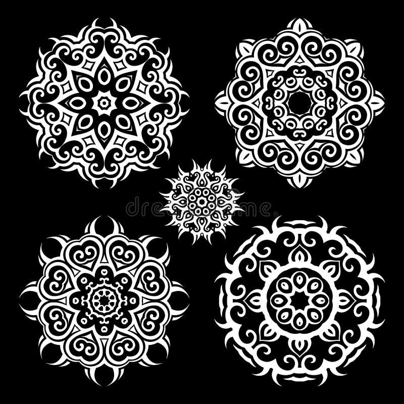 mandala Uitstekende patroonreeks stock illustratie