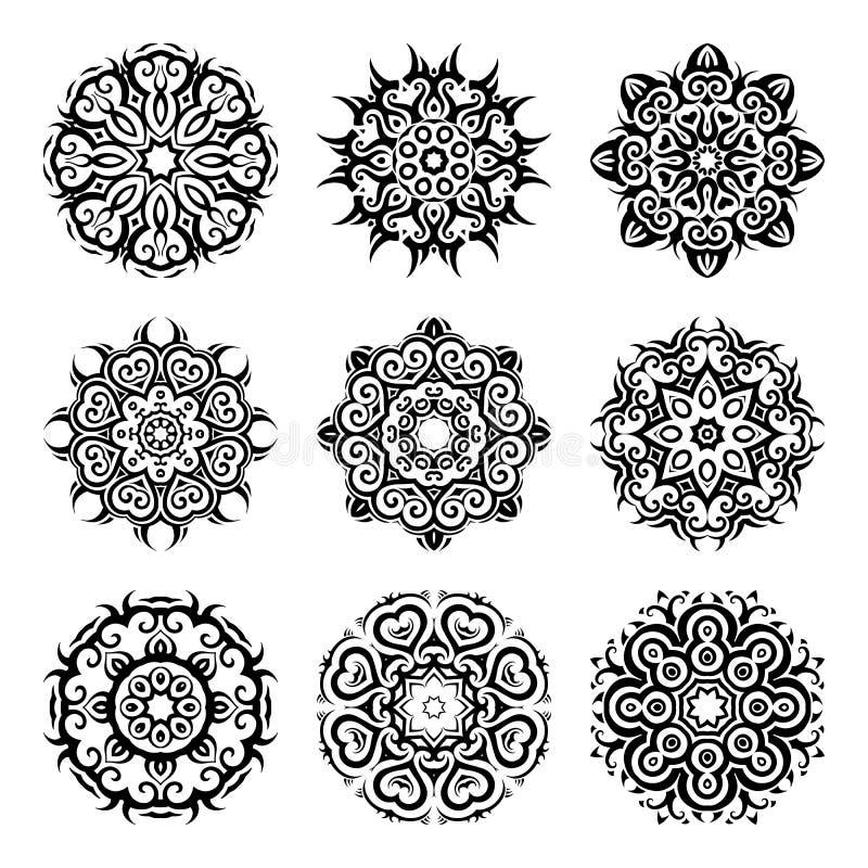 mandala Uitstekende patroonreeks vector illustratie