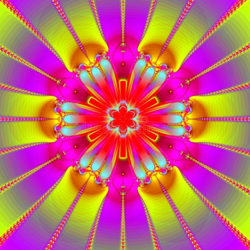 Mandala ultra luminosa illustrazione di stock