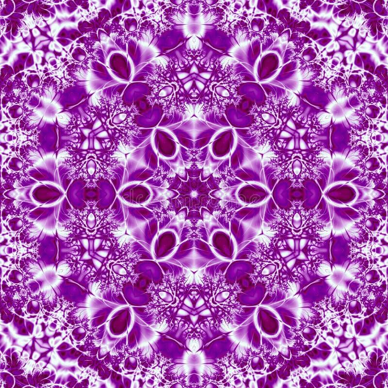 Tile mandala in ultra violet or purple colors effect embroidery arabesque. Mandala in ultra violet or purple colors effect embroidery arabesque stock illustration