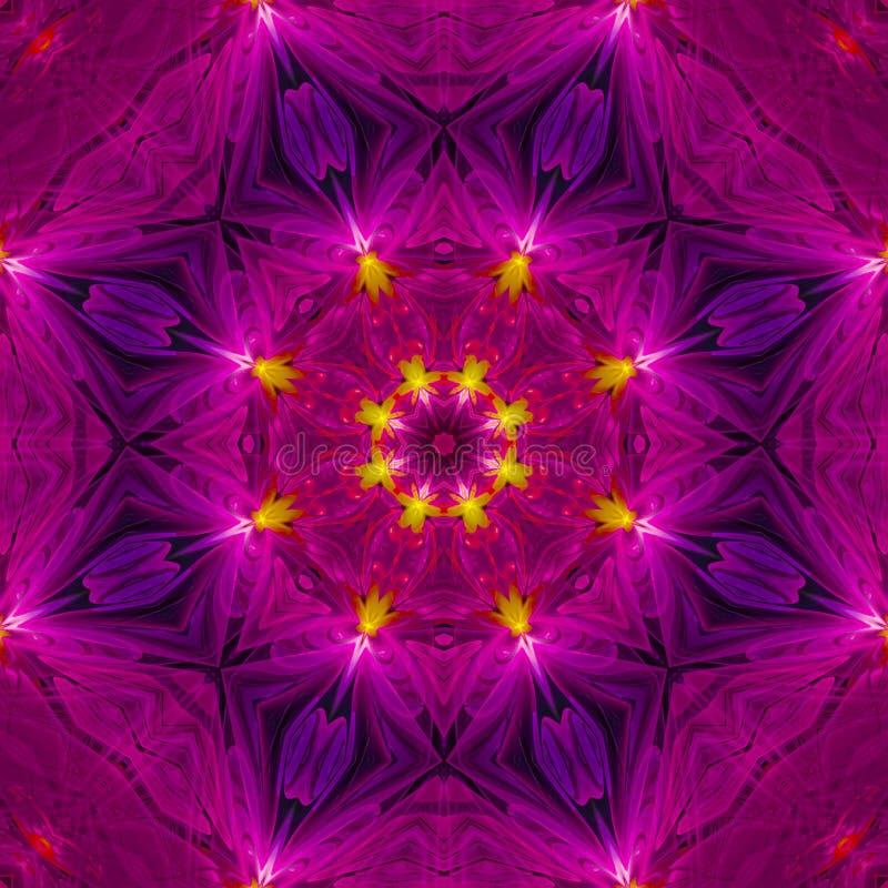 Mandala unikalna deseniowa stubarwna współczesna świąteczna tekstura kwiecista, szablon ilustracji