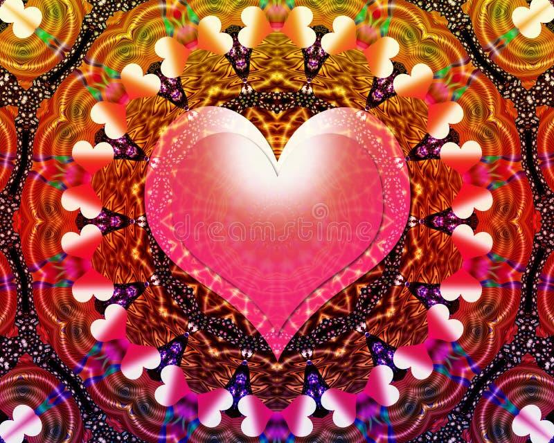 Mandala universale di energia di amore royalty illustrazione gratis