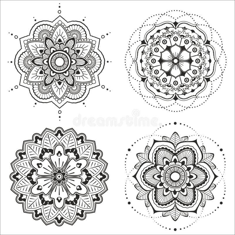 Mandala ustawiający royalty ilustracja