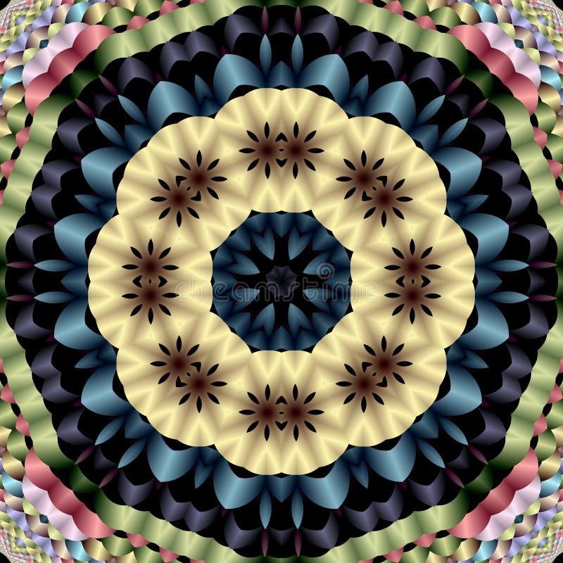 Mandala van Daisy stock illustratie