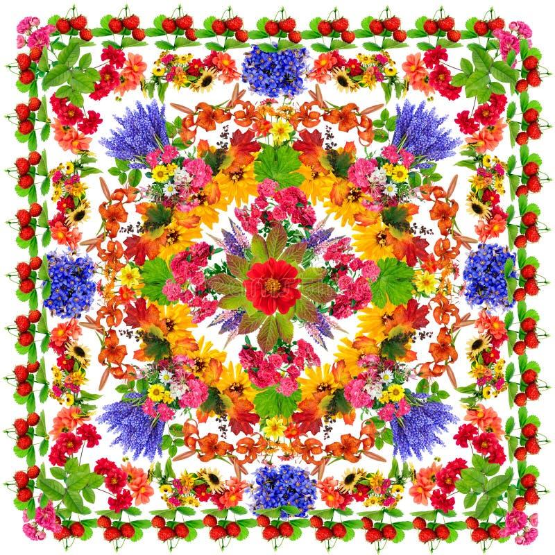 Mandala van de geluklotusbloem royalty-vrije illustratie