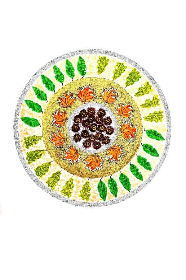 Mandala van de Herfst royalty-vrije illustratie