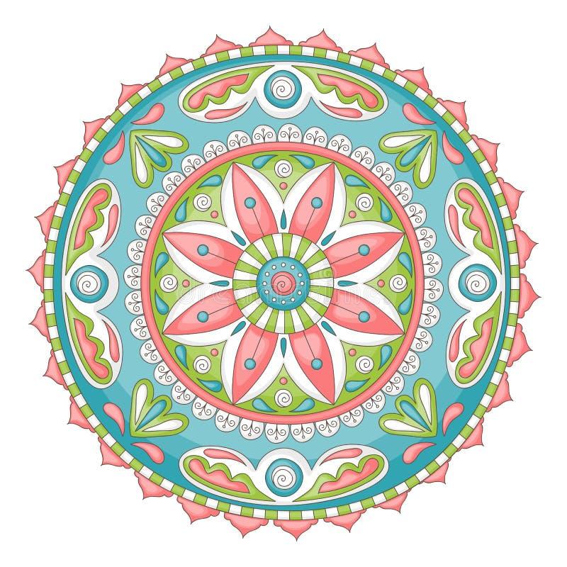 Mandala van de krabbel stock illustratie
