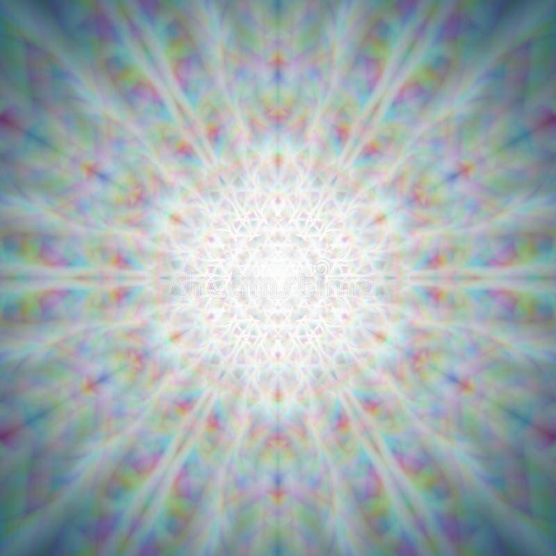 Mandala van de mysticus glanzende paardebloem vector illustratie
