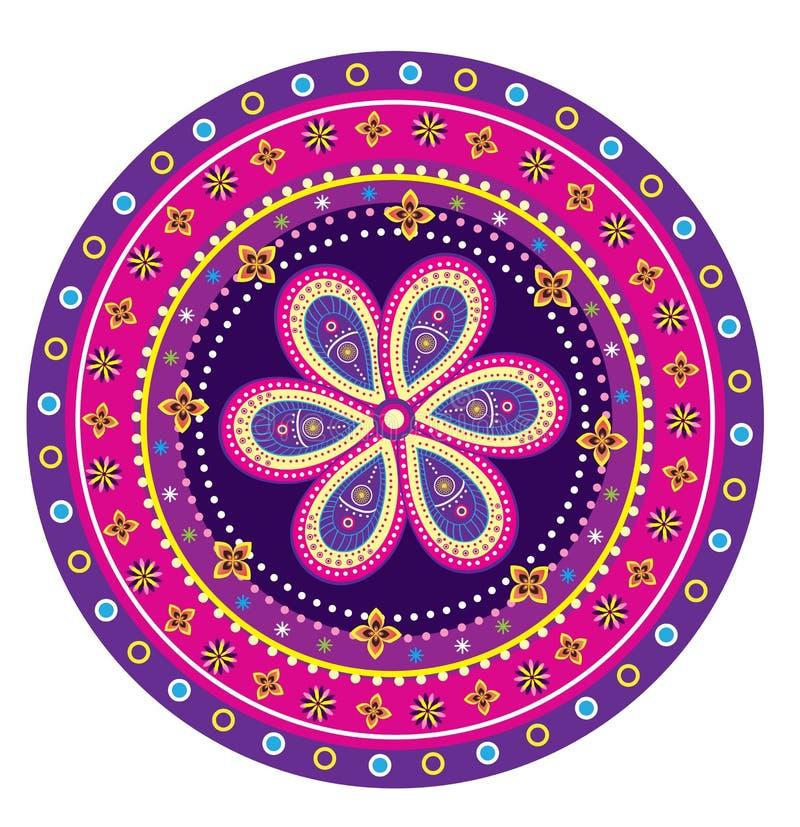 Mandala van het bloempatroon royalty-vrije illustratie