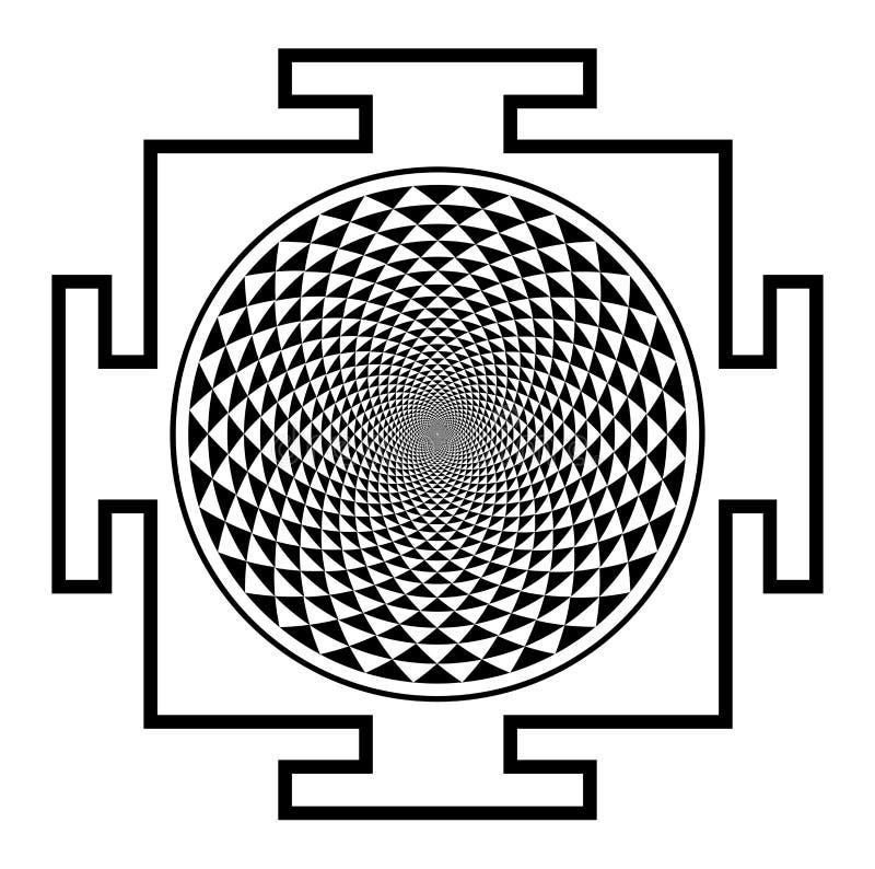 Mandala van Sahasrarachakra royalty-vrije illustratie