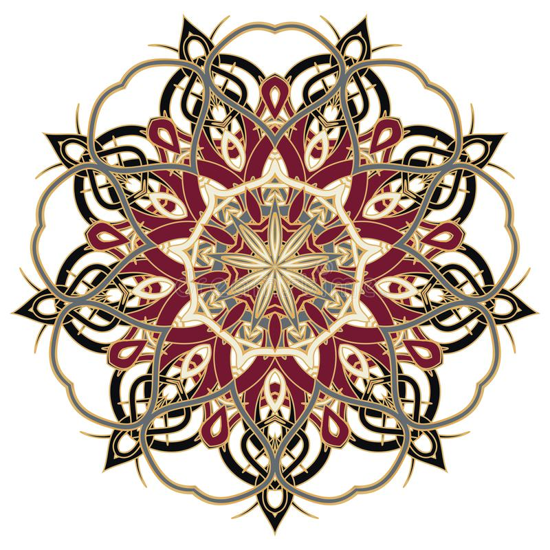 Mandala variopinta di Aribic Ornamenti tribali etnici fotografia stock libera da diritti