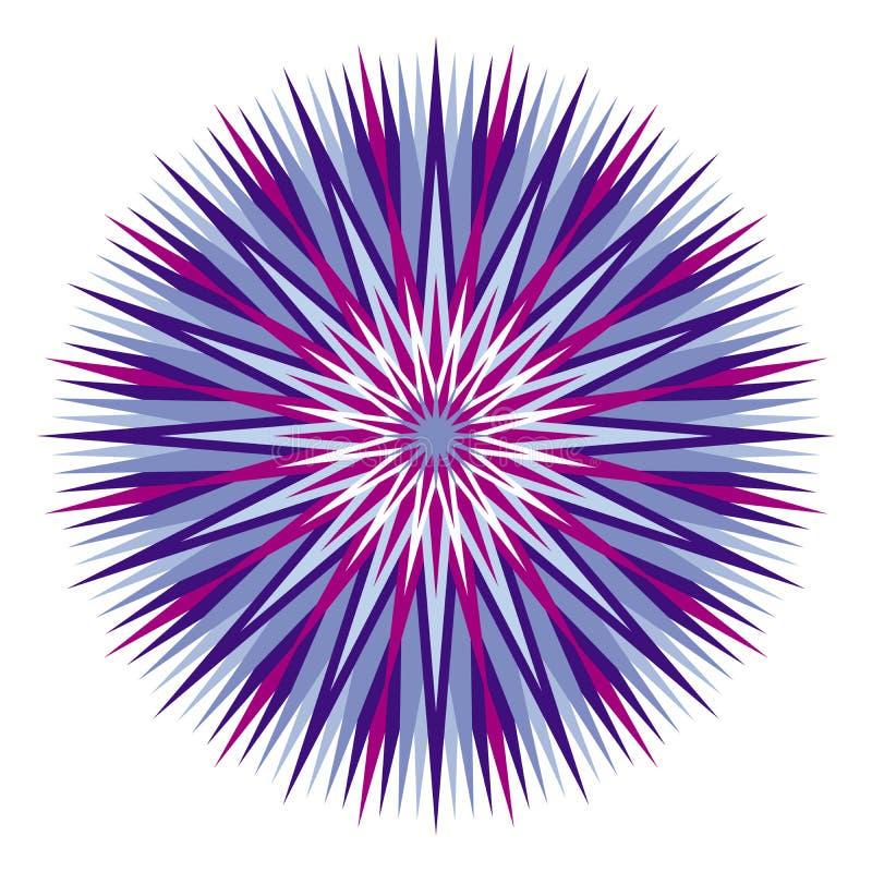 Mandala variopinta Openwork Ornamento elegante circolare Vettore illustrazione di stock