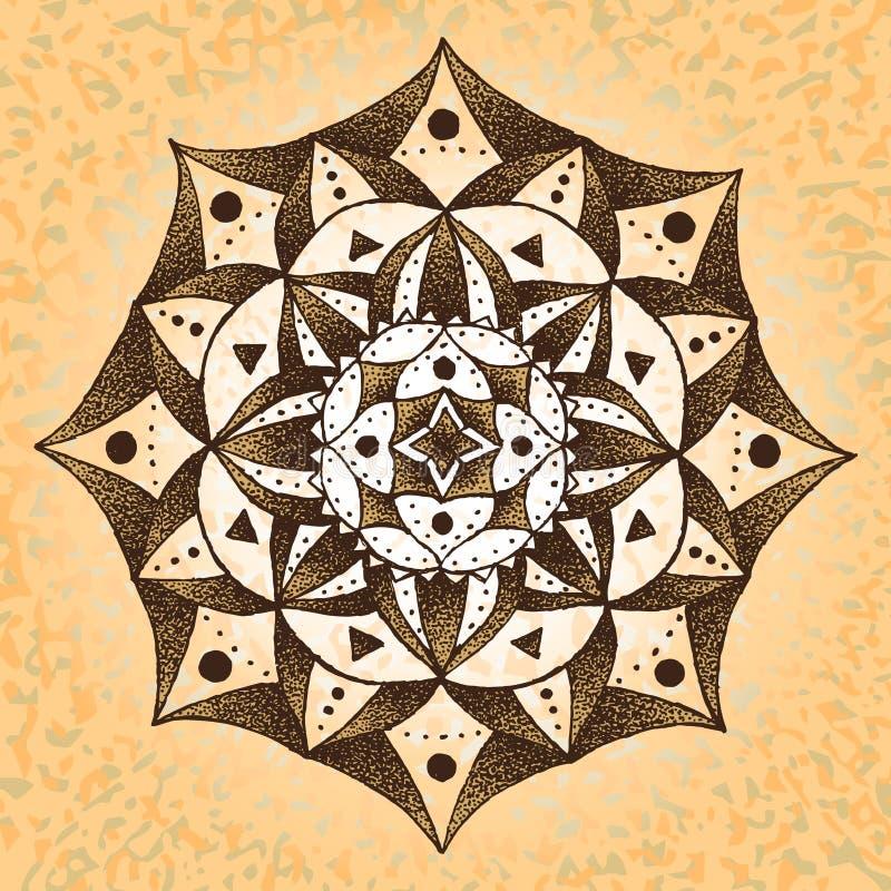 Mandala-vecchia carta fotografia stock