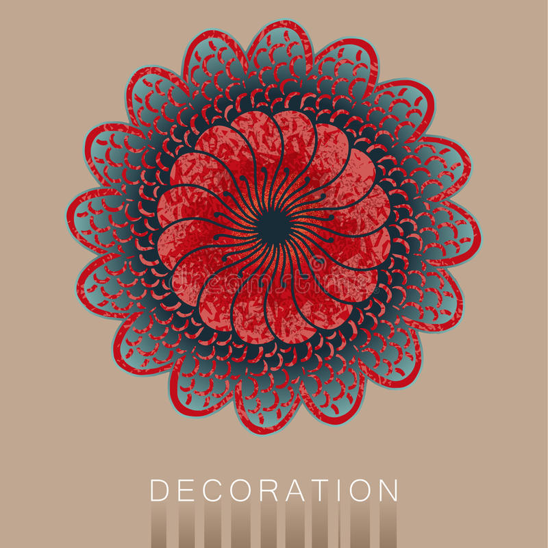 Mandala. Vector decorative element, Mandala Style stock illustration