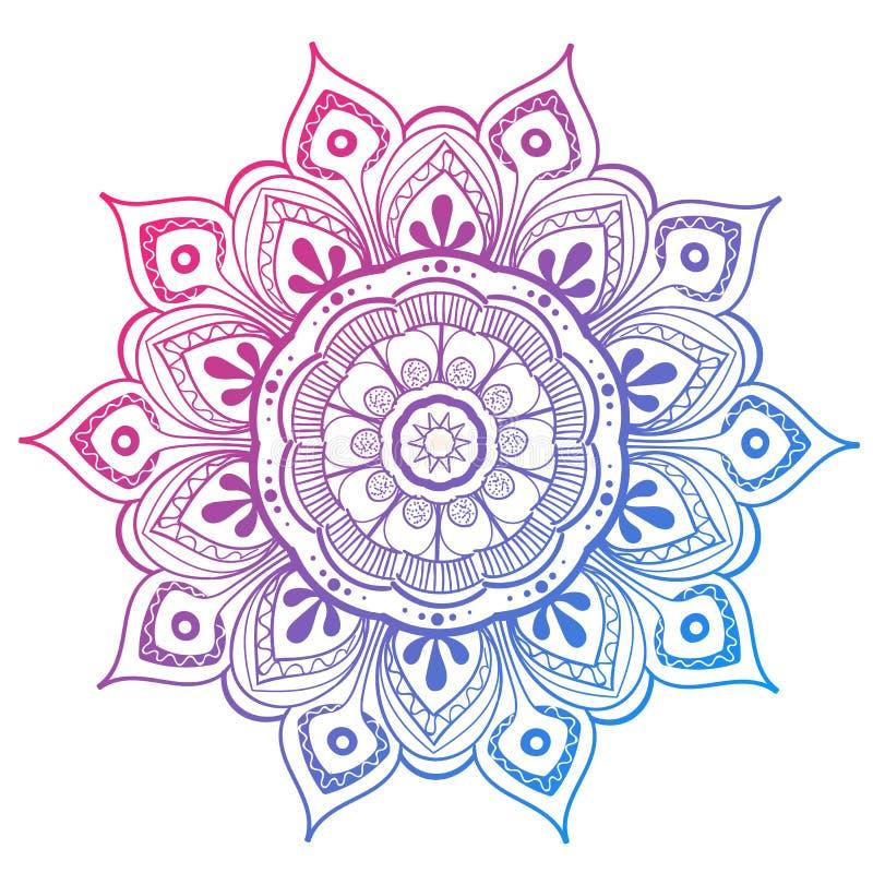 Mandala Vector Design Element. Round ornament decoration. Colorful flower pattern. Stylized floral motif. Complex. Mandala Vector Design Element. Round ornament stock illustration