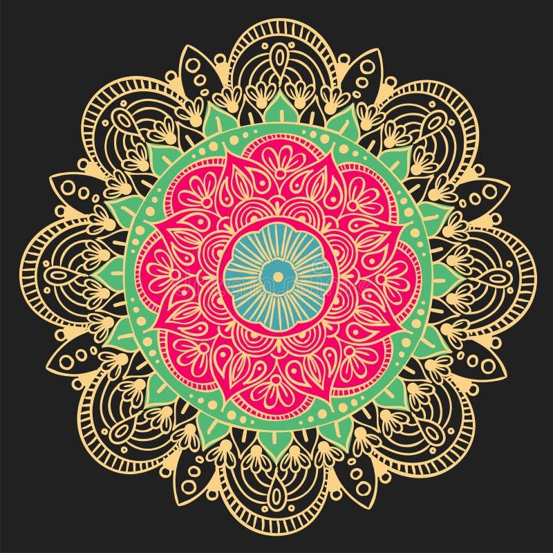 Mandala Vector Design Element Runde Verzierungsdekoration Blumen-Muster [02] Stilisiertes Blumenmotiv kompliziert vektor abbildung